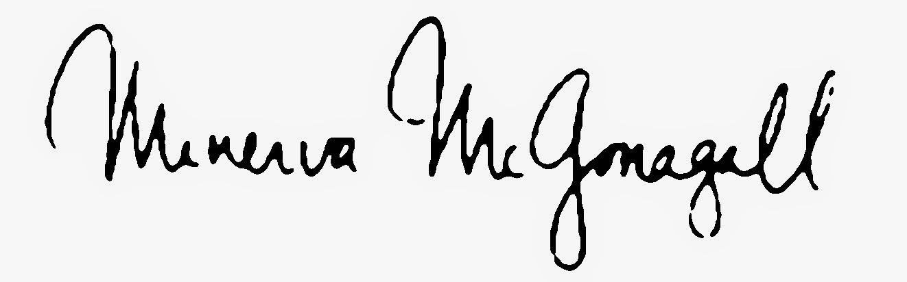 The Signature Of Professor McGonagall
