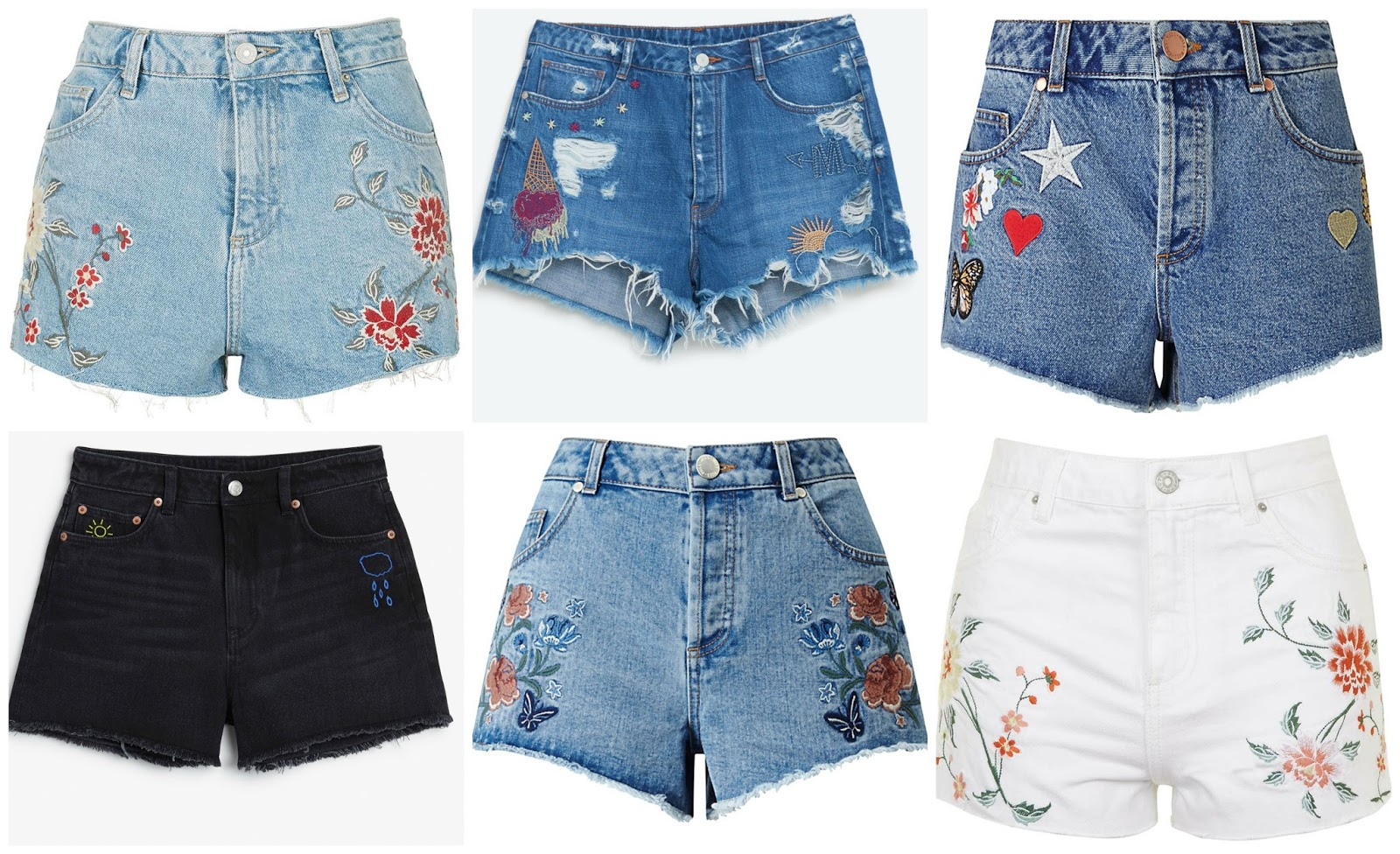 The embroidered shorts edit sarah rose goes