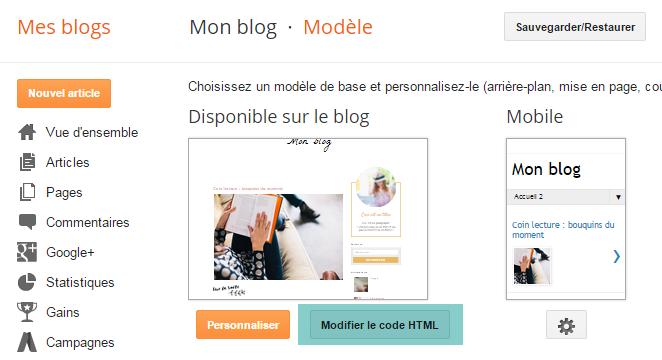 Modifier l'apparence globale du pied d'article sur Blogger