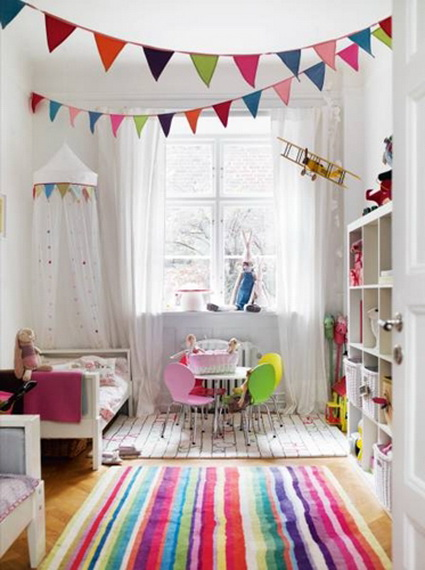 Pennants in children's bedrooms 4