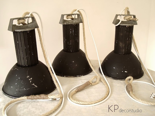 Lámparas industriales antiguas en valencia