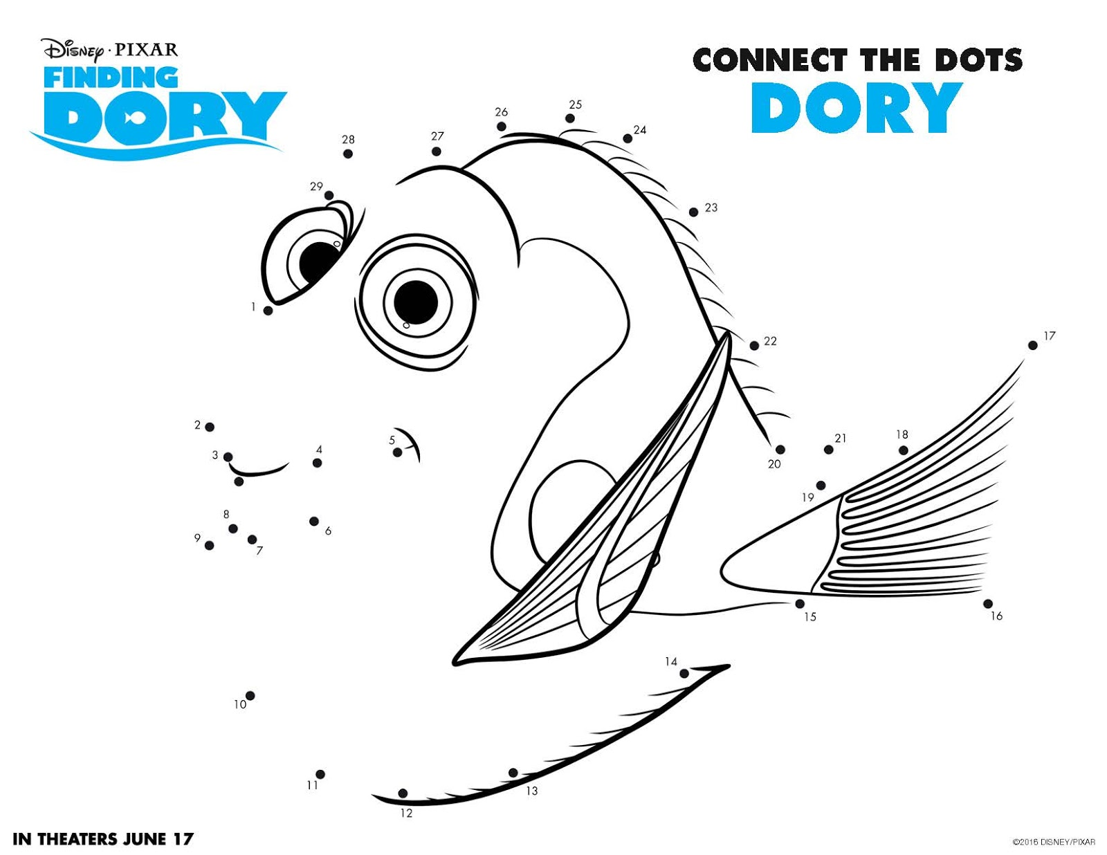 Be Brave Keep Going Free Finding Dory Coloring Pages