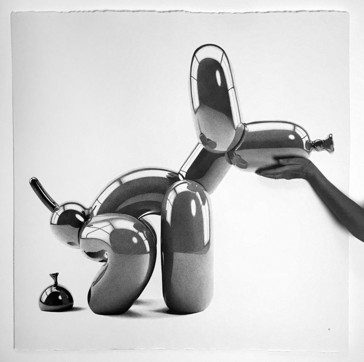 04-Poop-Balloon-Dog-Alessandro-Paglia-Photo-Like-Black-and-White-Drawings-www-designstack-co