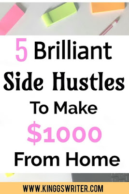 5 Amazing side hustles to make money and work from home. These side hustle ideas will help you to make extra money on the side and earn money online.