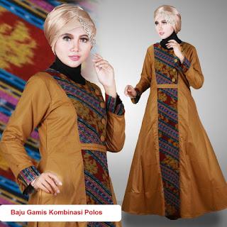 gamis batik kombinasi untuk anak muda