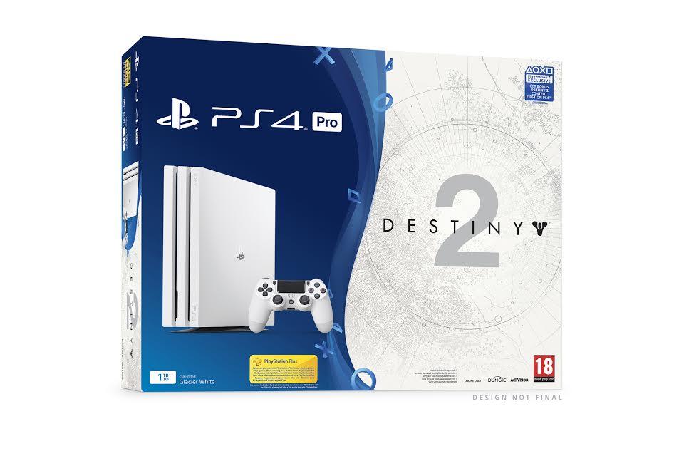 El pack PlayStation 4 Pro Glacier White junto con Destiny 2 se pondrá a la venta el 6 de septiembre