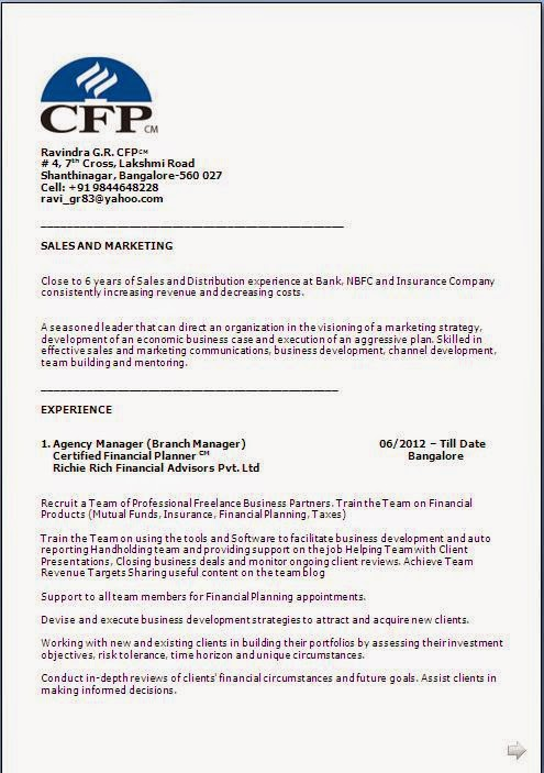 Resume Format For Fresher Download Pdf Certified Financial Planner Resume