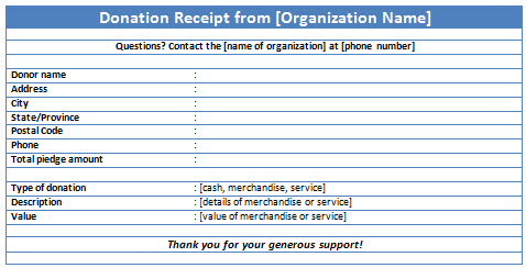Non Profit Donation Receipt Templates Free Word And JPG Format - Donation invoice template