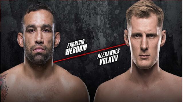 Horário da luta UFC  sábado Alexander Volkou x Fabrício Werdum - 17/03/2018