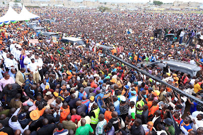 Jacaranda ground full of people waiting for Raila Odinga and NASA leaders. PHOTO | Courtesy