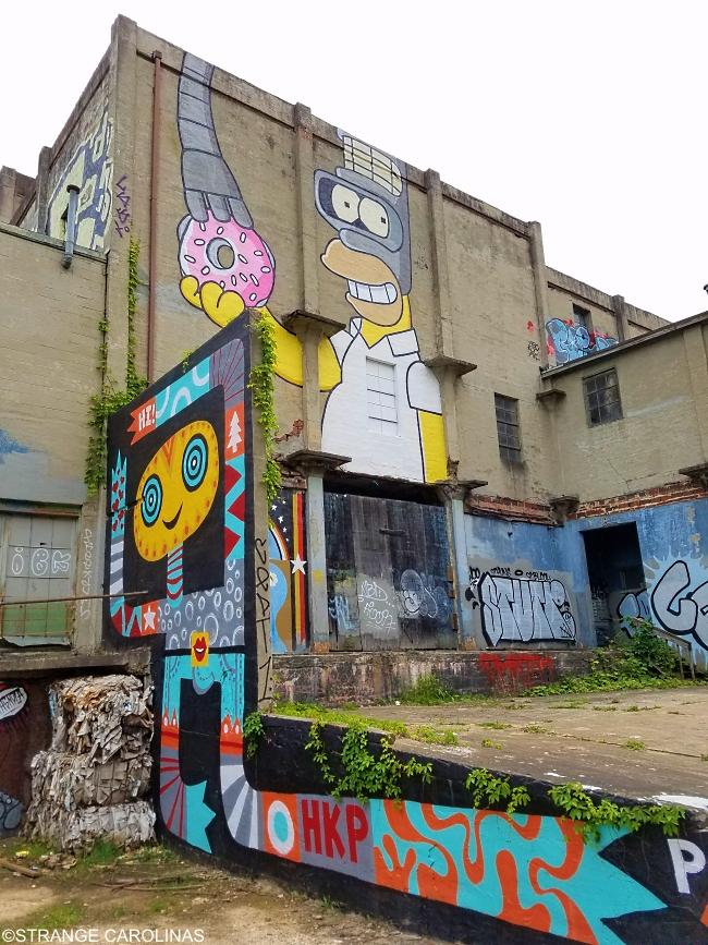 Asheville Waste Paper Mill Murals Strange Carolinas The