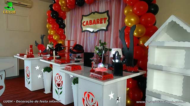 Decoração festa feminina tema Cabaré