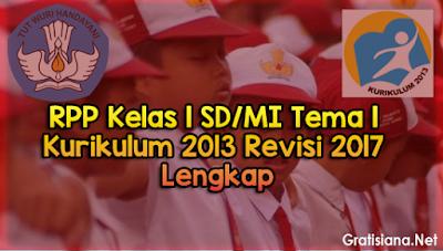 Download RPP Kelas 1 SD/MI Tema 1 Kurikulum 2013