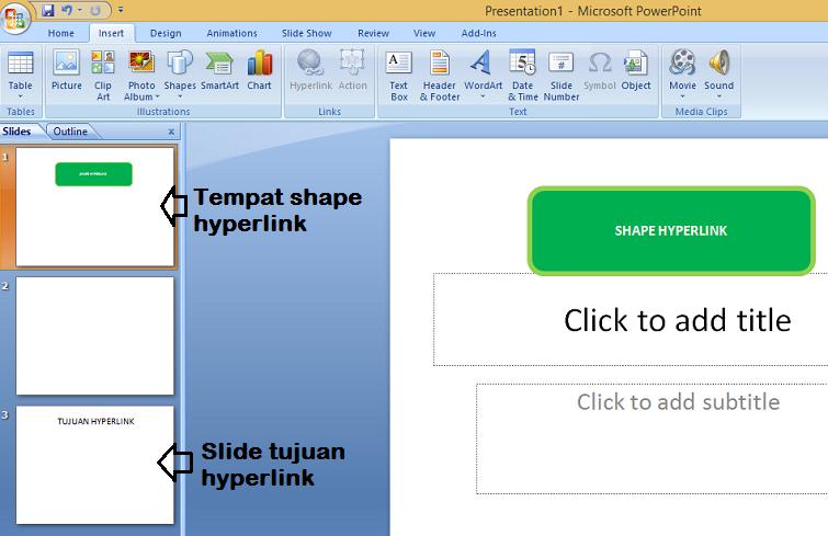 pada hari ini kali ini diriku bagikan bagaimana supaya agan yang belum dapat menciptakan Tutorial Membuat Hyperlink di PowerPoint (PPT) 2007 dengan Gampang
