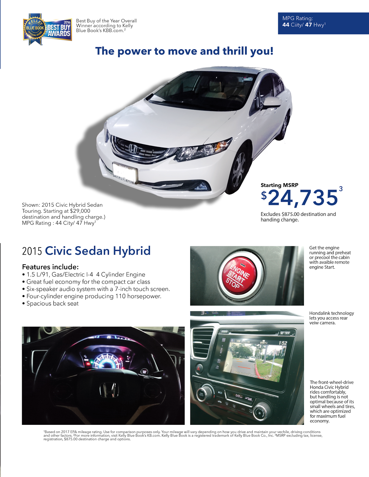2015 Honda Civic Kbb : honda, civic, Honda, Civic, Promotional, Flyer, Designs