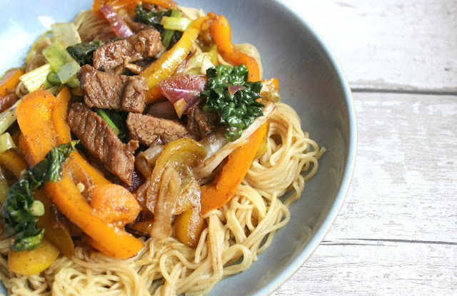 Sticky hoisin beef stir fry recipe