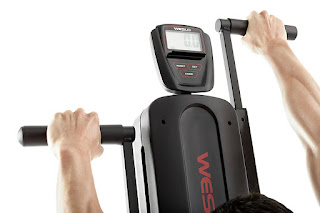 Fitness monitor displays workout data on Weslo StepFit Climber