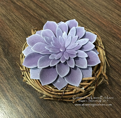 Faux Succulent with Stampin' Up! Oh So Succulent Bundle