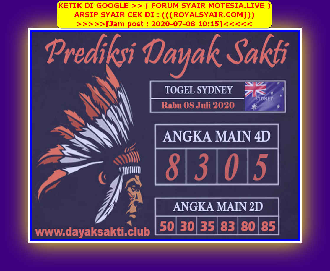 Kode syair Sydney Rabu 8 Juli 2020 52