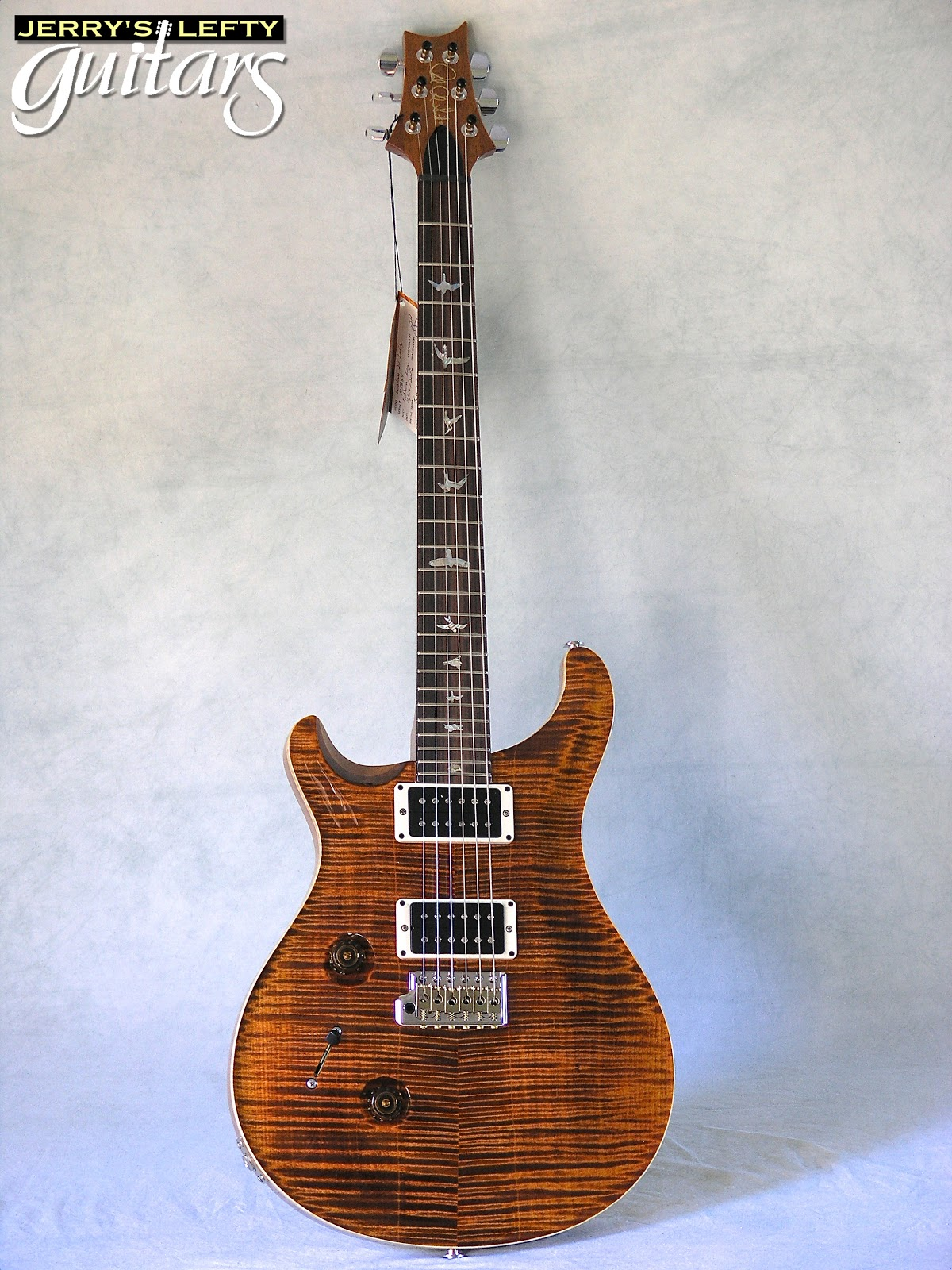 jerry 39 s lefty guitars newest guitar arrivals updated weekly prs custom 24 10 top flame yellow. Black Bedroom Furniture Sets. Home Design Ideas