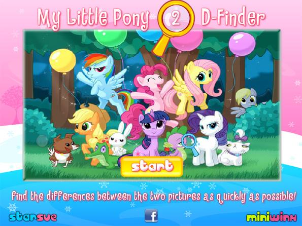 Jeu des différences - My Little Pony