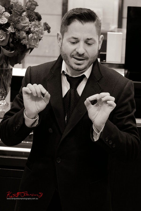 Man of passion, Stefano Canturi speaks about designing Iris and the new ETERNAL range, Eternal jewellery launch - Canturi Photographed by Kent Johnson.