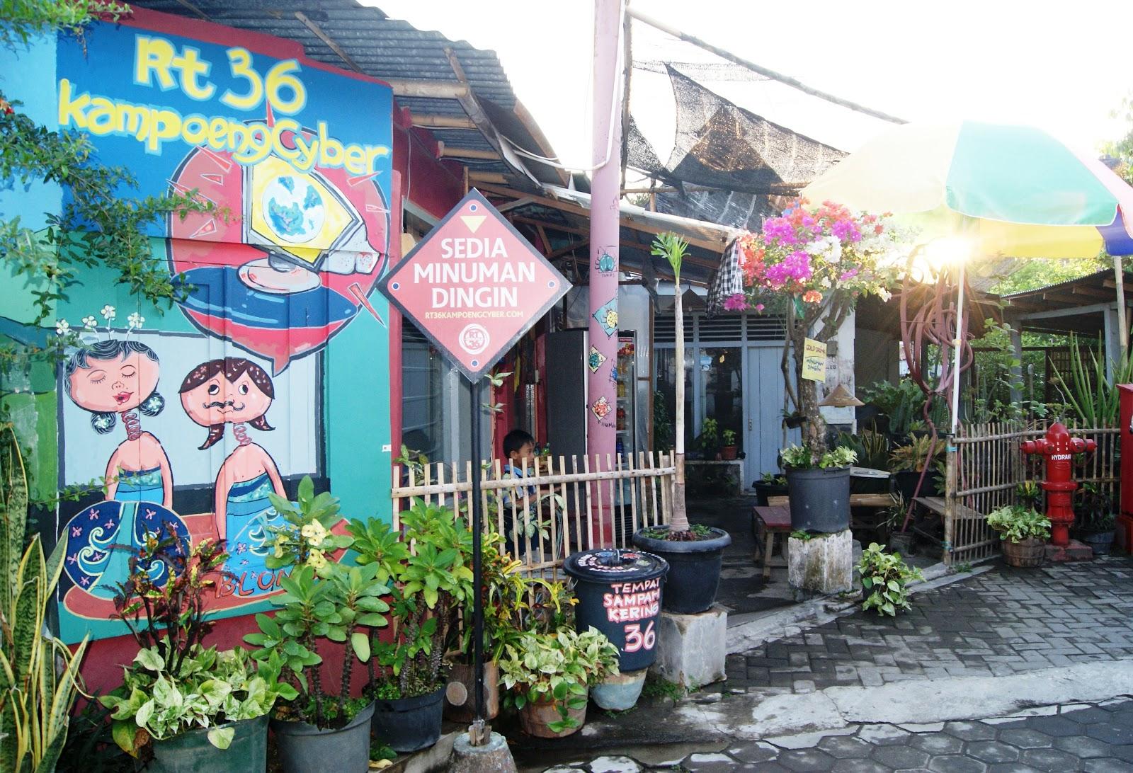 Kampung Cyber Yogyakarta yang beberapa waktu lalu dikunjungi oleh Mark Zuckerberg