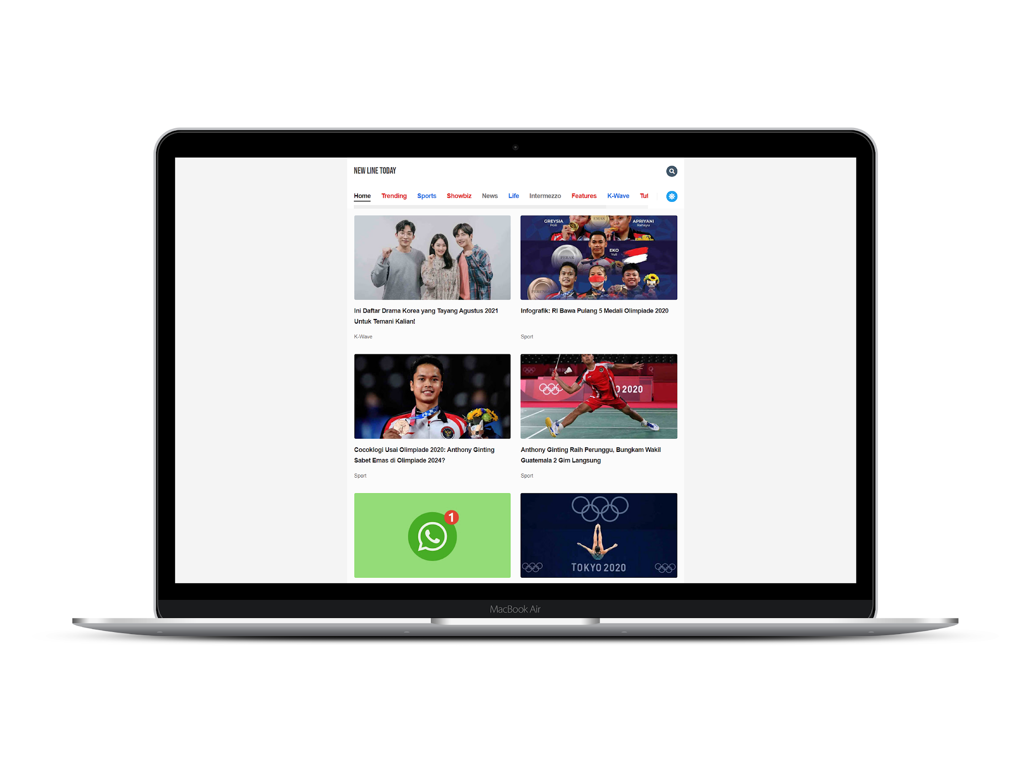 New Line Today Blogger Template
