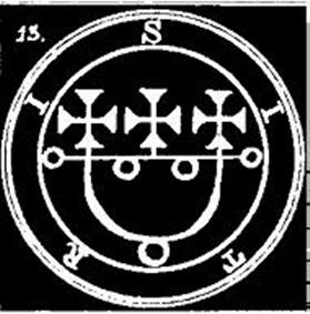 SITRI, SIGILO, DAEMON, GOETIA, OCULTISMO