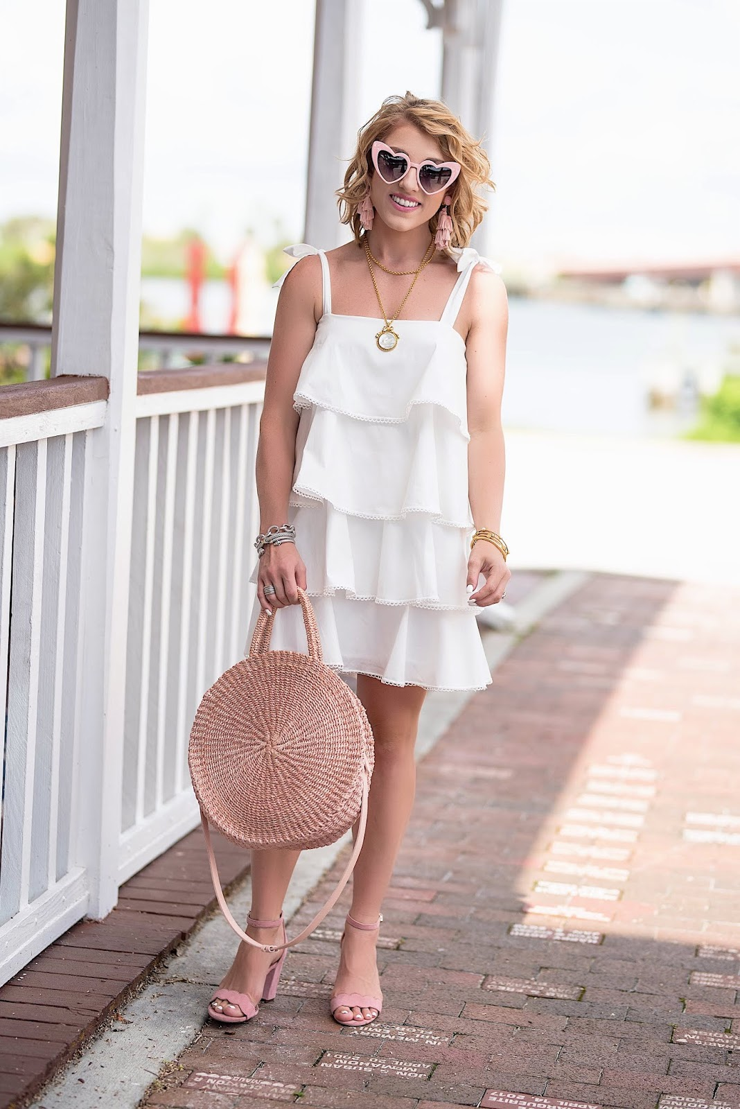 My Favorite White Dress: WAYF Madelyn Tiered Dress - Something Delightful Blog