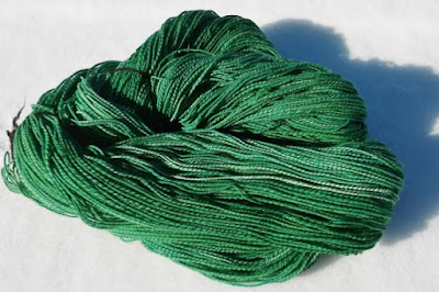 St. Patrick's Day green yarn; Makers' Monday