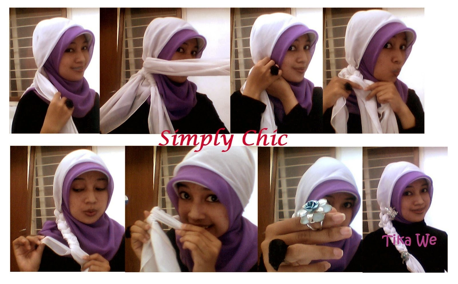 Tutorial Hijab Pesta Segi Empat Kombinasi Tutorial Hijab Paling