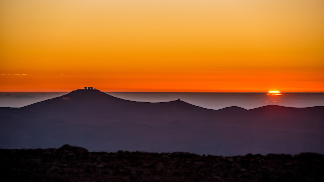 Sunset over Atacama Desert