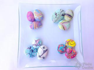 piedras, decoración, esmalte