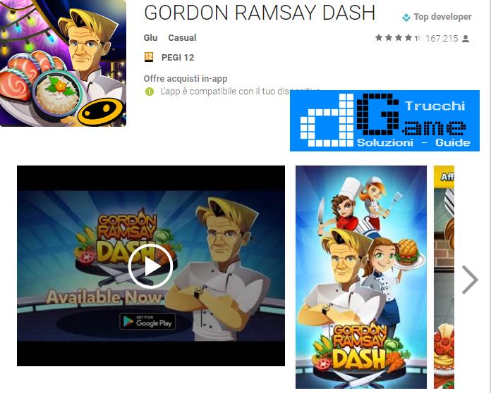 Trucchi GORDON RAMSAY DASH Mod Apk Android v1.6.4