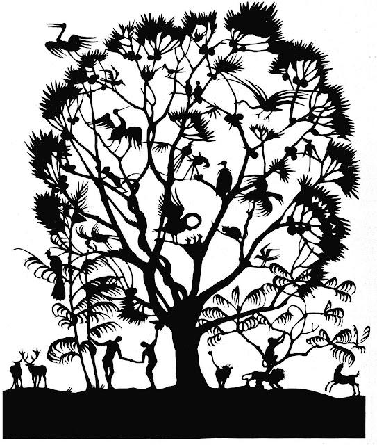 A 1921 papercut silhouette