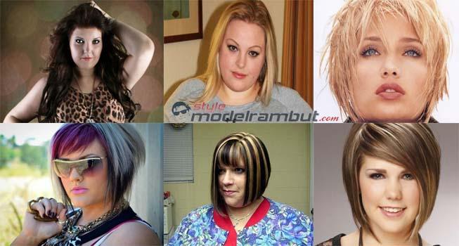 Model Rambut Ikal Pendek Wanita Gemuk