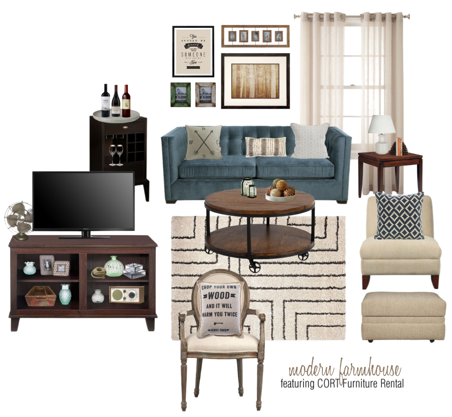 In The Modern Farmhouse Style Board I Went With A Similar Color Scheme But Reversed Balance Of Black And White While Industrial Room Featured More