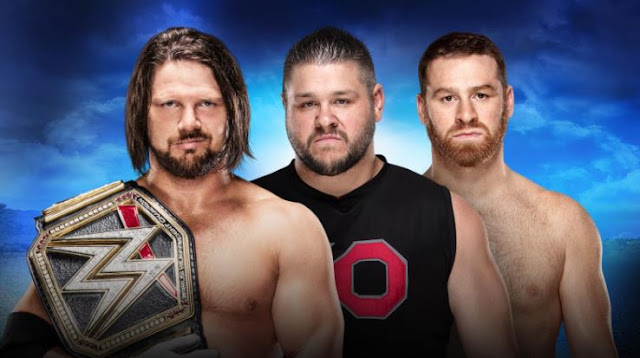 AJ Styles (c) vs Kevin Owens and Sami Zayn Handicap match for the WWE Championship Royal Rumble 2018