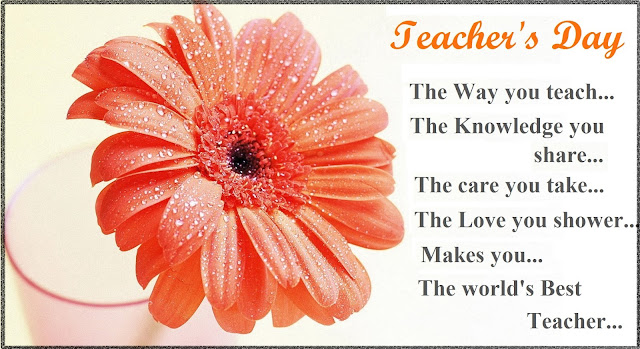 5th October World Teacher's Day 2016 Short Speech, Essay For Kids In English