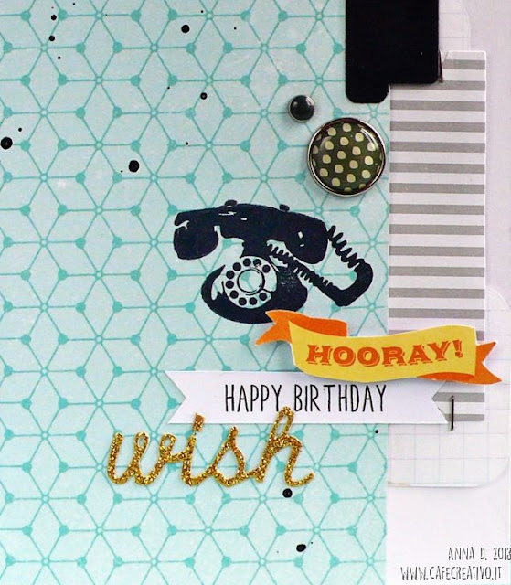 Cardmaking: Card maschile con telefono vintage