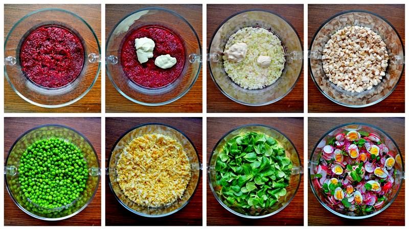 salatka wielkanocna, wielkanocna salatka, przepisy na wielkanoc, wielkanocne przepisy, wiosenna salatka, salatka warstwowa, wielkanoc, salatka z buraczkami, majonez kielecki, salatka z majonezem kieleckim, przepisy z majonezem kieleckim, majonez kielecki przepisy, zycie od kuchni