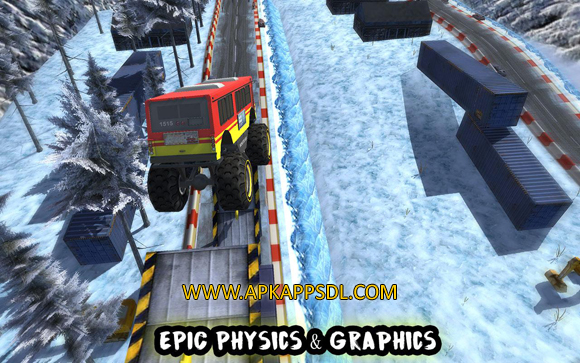 Crazy Monster Bus Stunt Race Apk Mod v1.3 Full Version 2017 Free Download