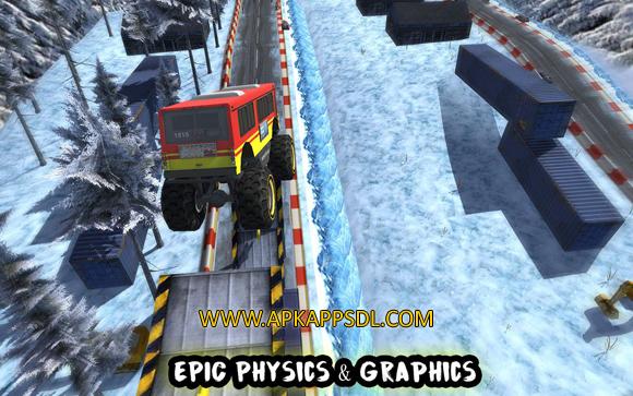 Crazy Monster Bus Stunt Race Apk Mod v1.3 Full Version 2017 Free Download