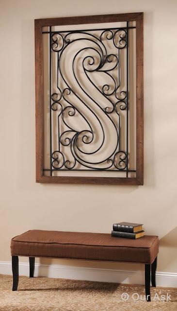 Stylish Metal Scroll Wall Art