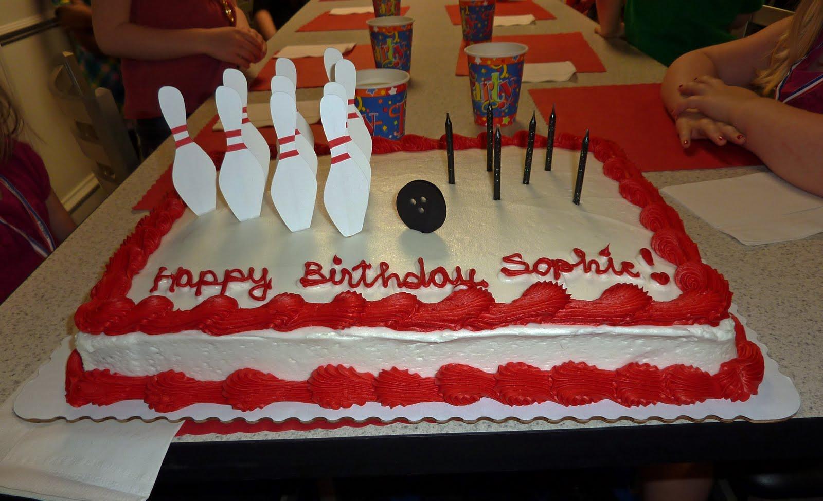Publix Bowling Cake