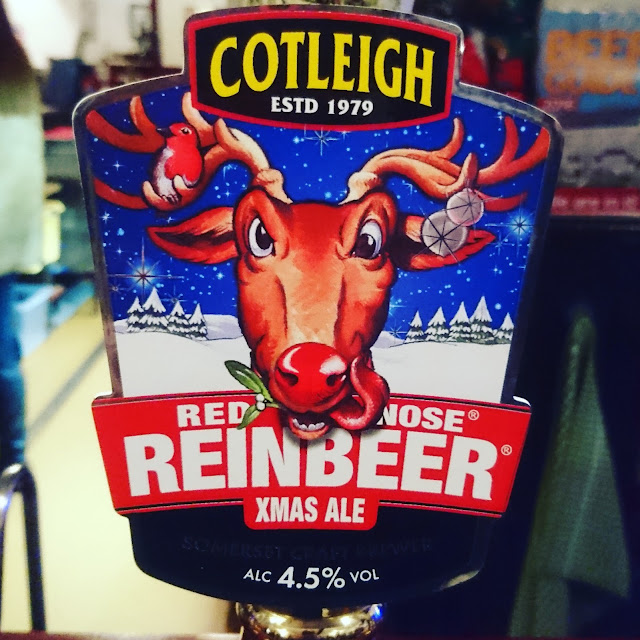 Red Nose Reinbeer from Cotleigh craft beer real ale review pump clip