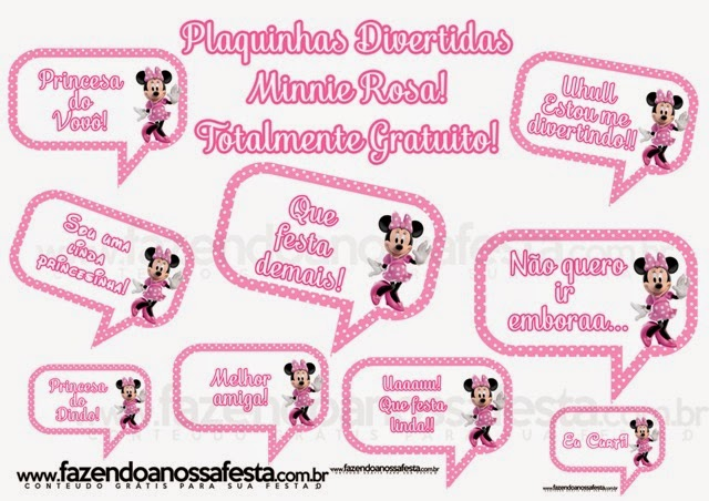 Feltrolices Decorando Festa Tema Minnie Rosa