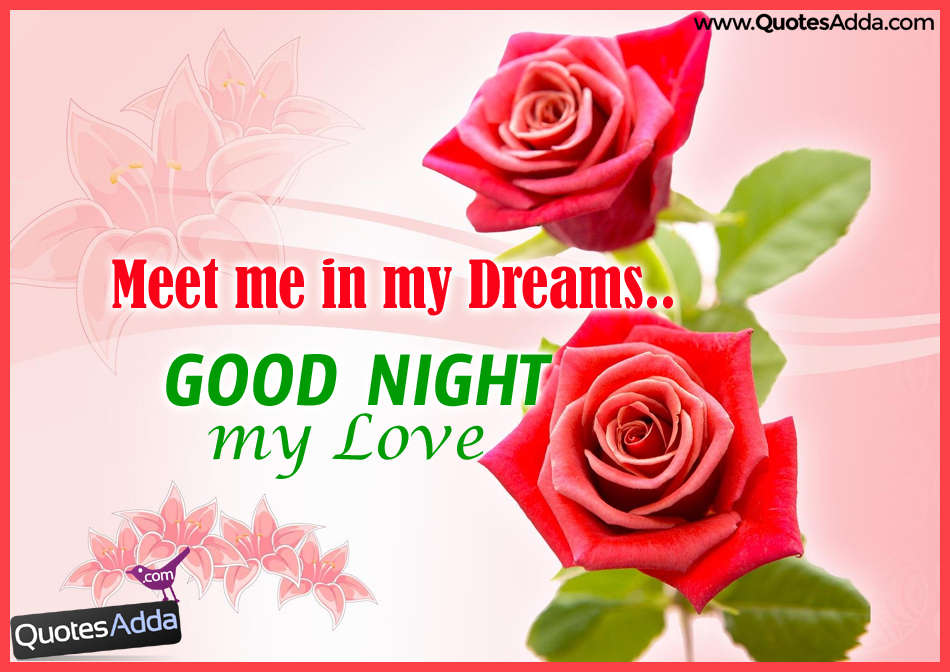 Good night love flowers pictures