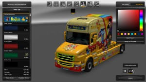 Yellow Submarine Skin for Scania T Longline